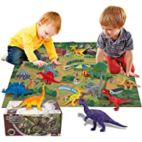 Innoo Tech Dinosaur Toys Set, 70 x 80CM Soft Play Mat with 24Pcs Realistic Looking Dinosaurs Including T-Rex…