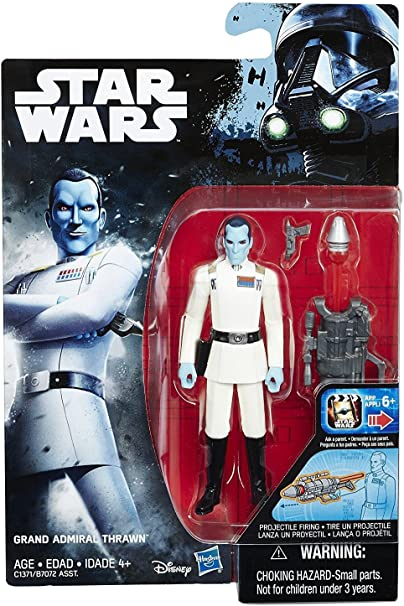 """Star Wars 3.75/"""" Expanded Universe GRAND ADMIRAL THRAWN action figure hasbro 2016"""