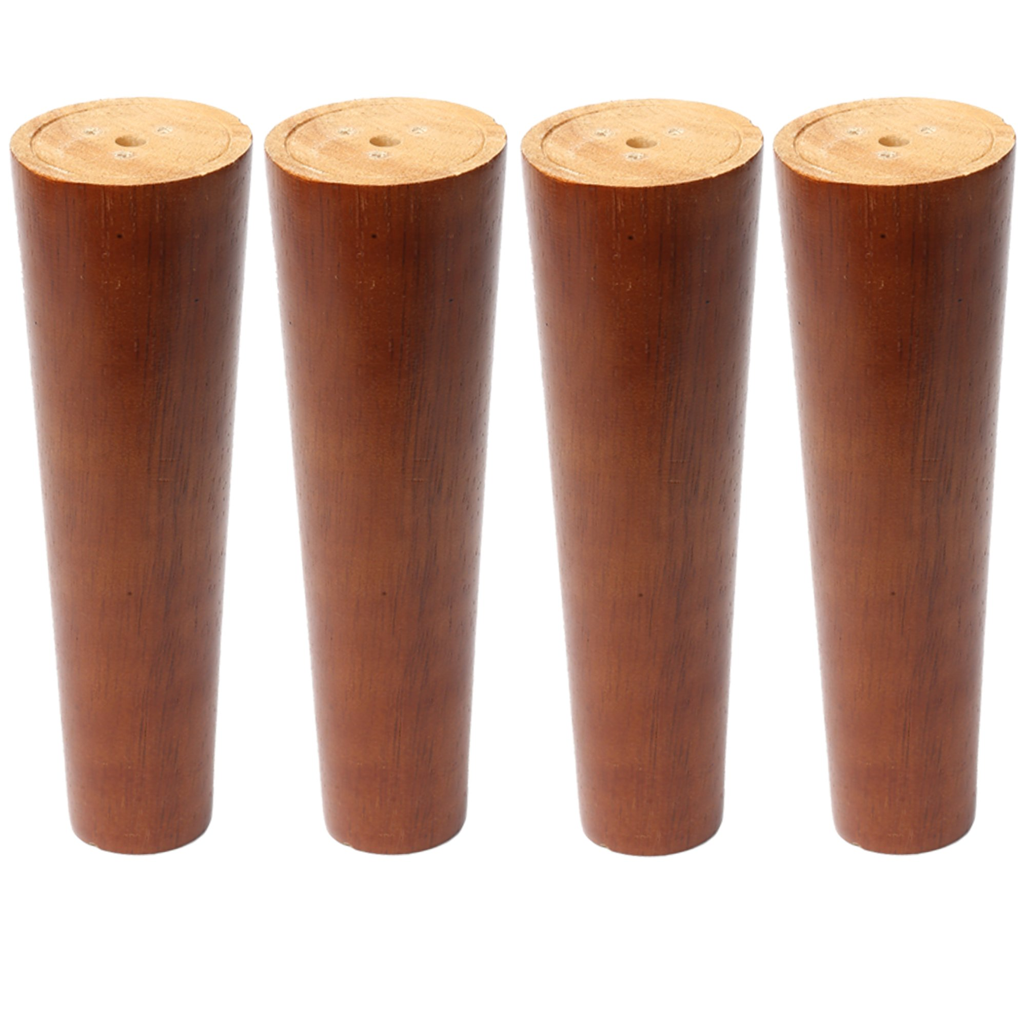 Sweet melodi Round Solid Wood Furniture Sofa/Chair/Couch/Loveseat/Cabinet Replacement Legs With special installation parts,Perfect for IKEA or US made furniture (Walnut color, 8 Inches,4 pcs)