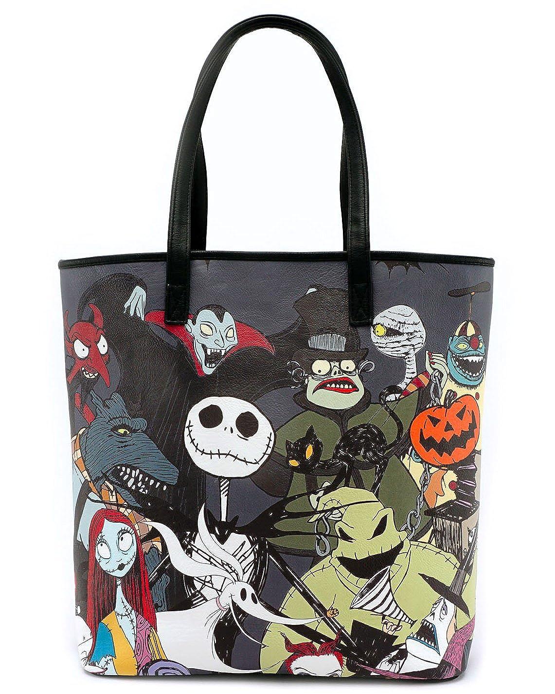 Nightmare Before Christmas Purses Handbags.Loungefly X Nightmare Before Christmas Character Print Tote Purse