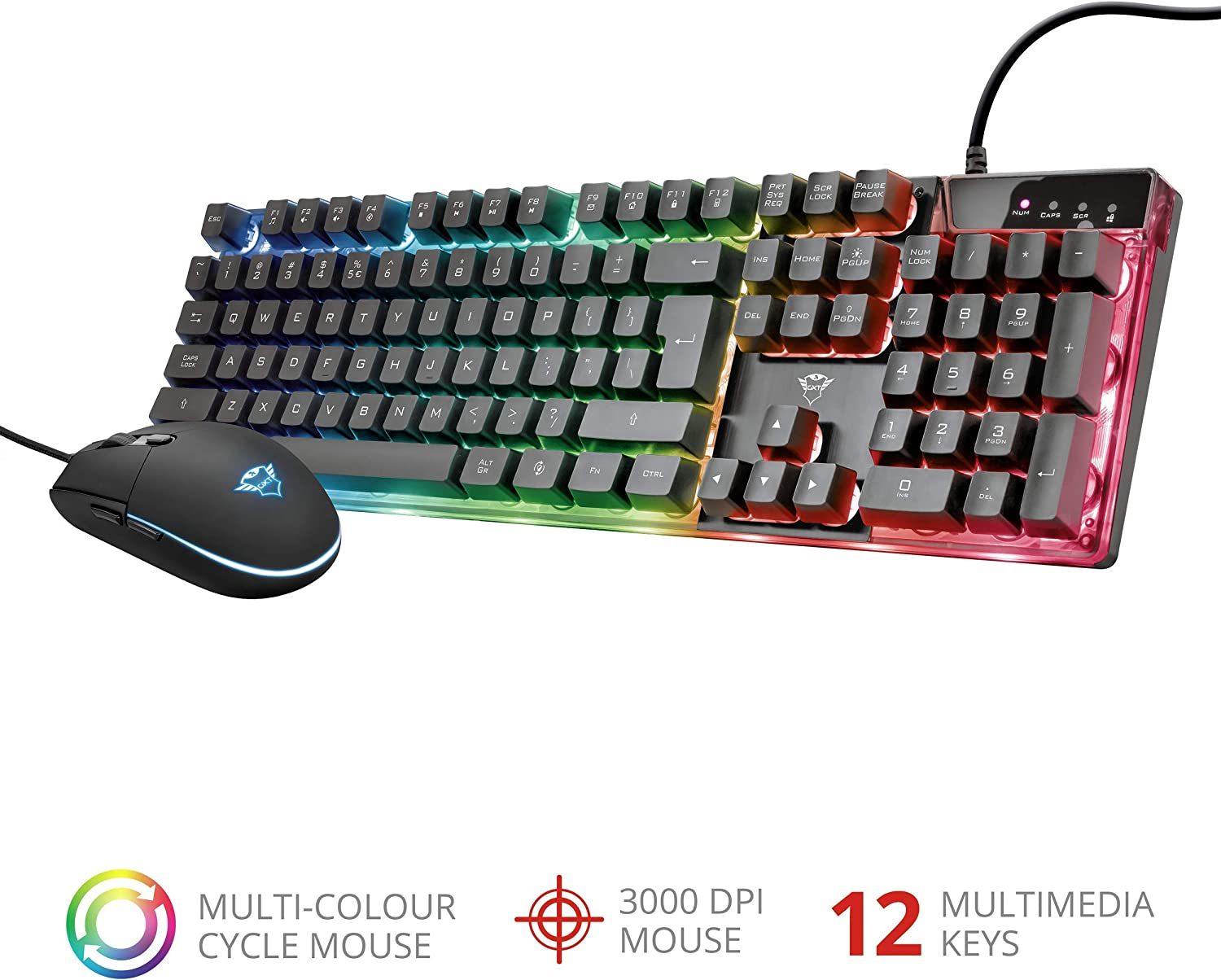 Accessori game pc Trust GXT 838 Azor Gaming Combo (keyboard with mouse)