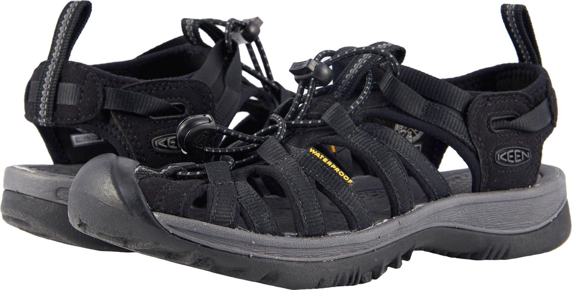 KEEN Women's Whisper-W Sandal, Black/Magnet, 11 M US