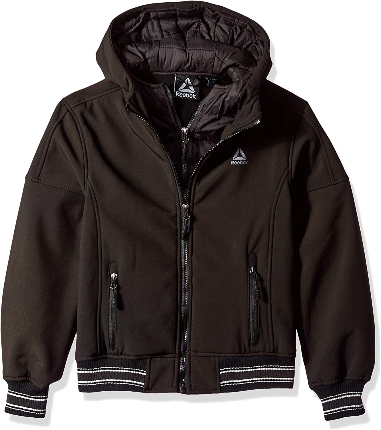 Reebok All items free shipping Boys' Active Vestee Ranking TOP9 with Hem Striped Jacket