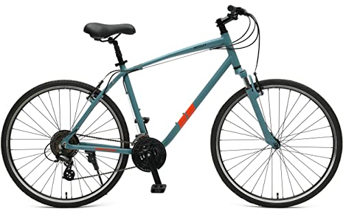Retrospec Bicycles Retrospec Motley Hybrid Bike 21 Speed, Pewter