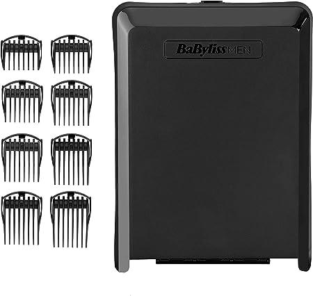 BaBylissMEN E990E Cortapelos Profesional Digital, Cuchillas de acero japonés extra afiladas de 45mm, Con/Sin cable, Batería de Litio, 160 min autonomía, carga rápida, 8 guías de corte de 0,6mm a 28mm
