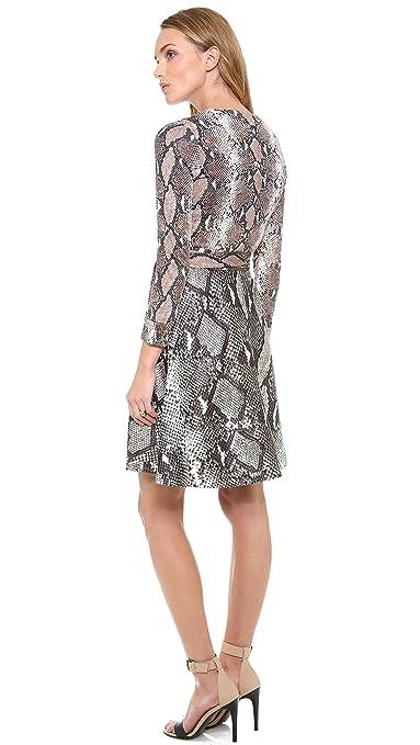 6c209c3f6523d Amazon.com: Diane von Furstenberg Women's Amelia Wrap Dress, Python Med Camo/Python  Lg Camo, 6: Clothing