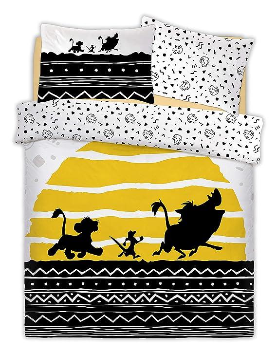 Lion King Parure de lit Double réversible Motif Disney The Tribal Sunrise