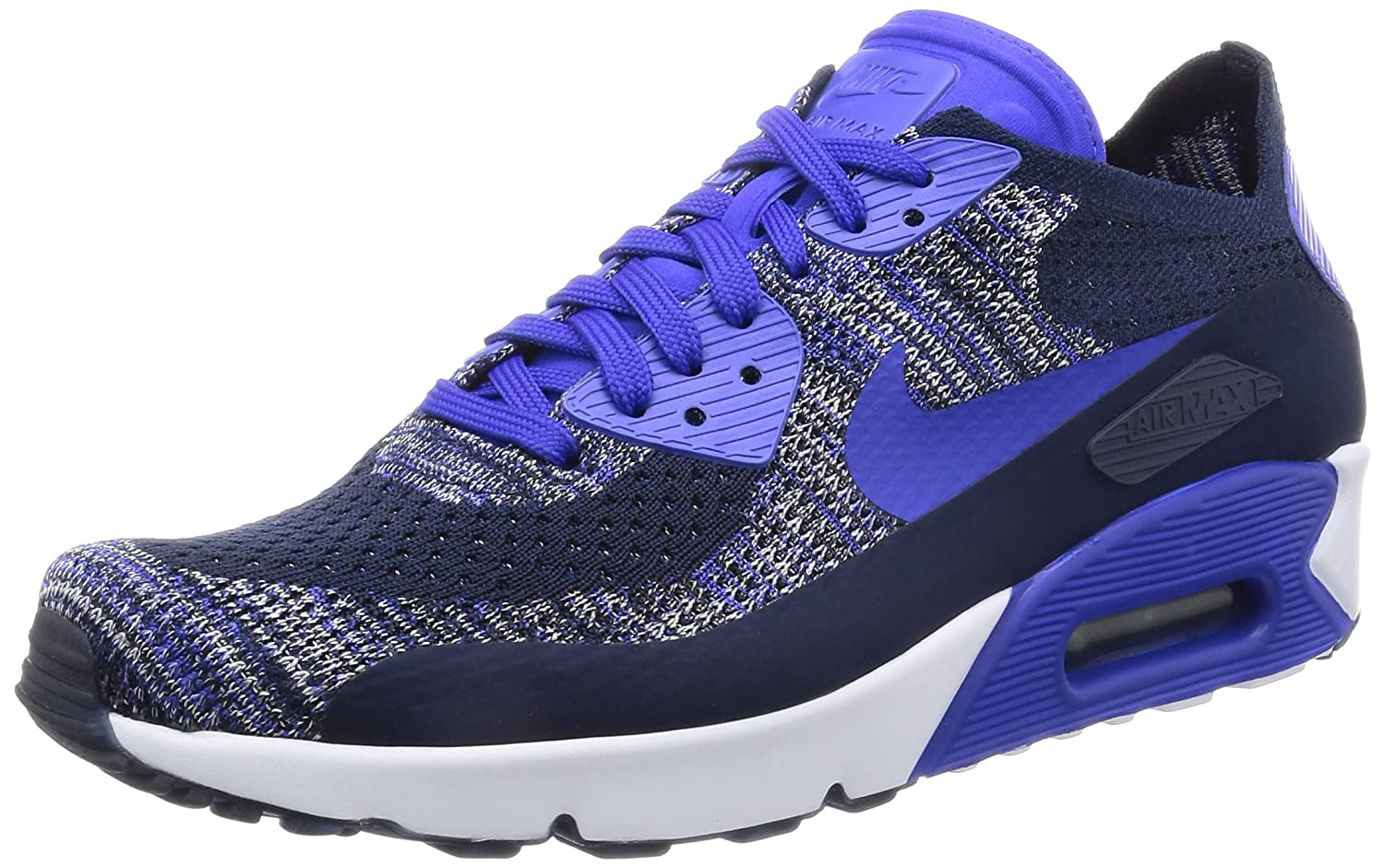 ecbd244f95 Amazon.com | Nike Men's Air Max 90 Ultra 2.0 Flyknit, College  Navy/Paramount Blue, 9.5 M US | Fashion Sneakers