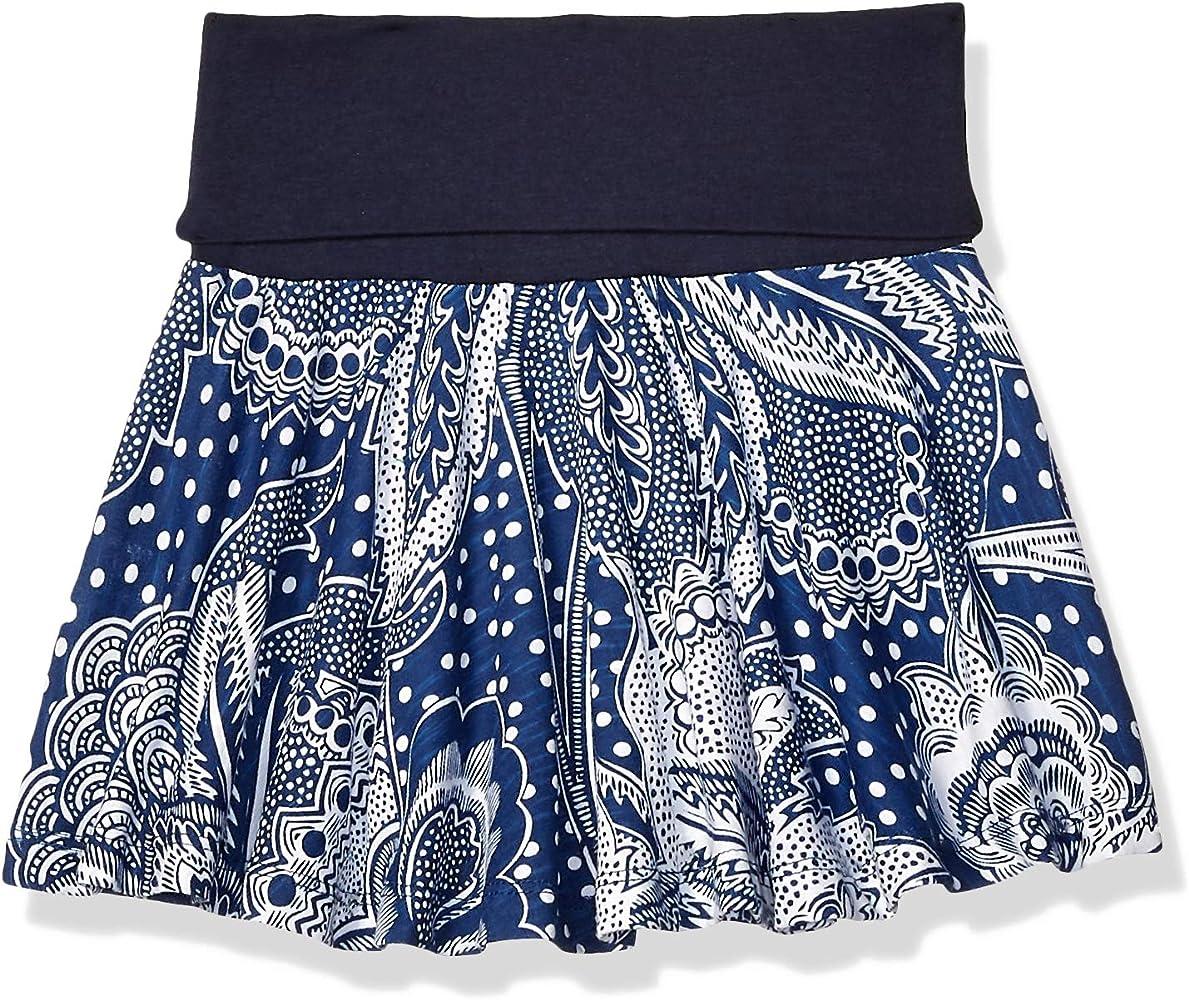 Desigual Girl Knit Skirt Evase (Fal_segur) Falda, Azul (Navy 5000 ...
