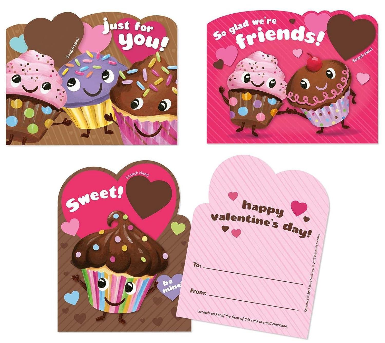 Amazon.com: Peaceable Kingdom 28 Chocolate Cupcake Scented Scratch ...