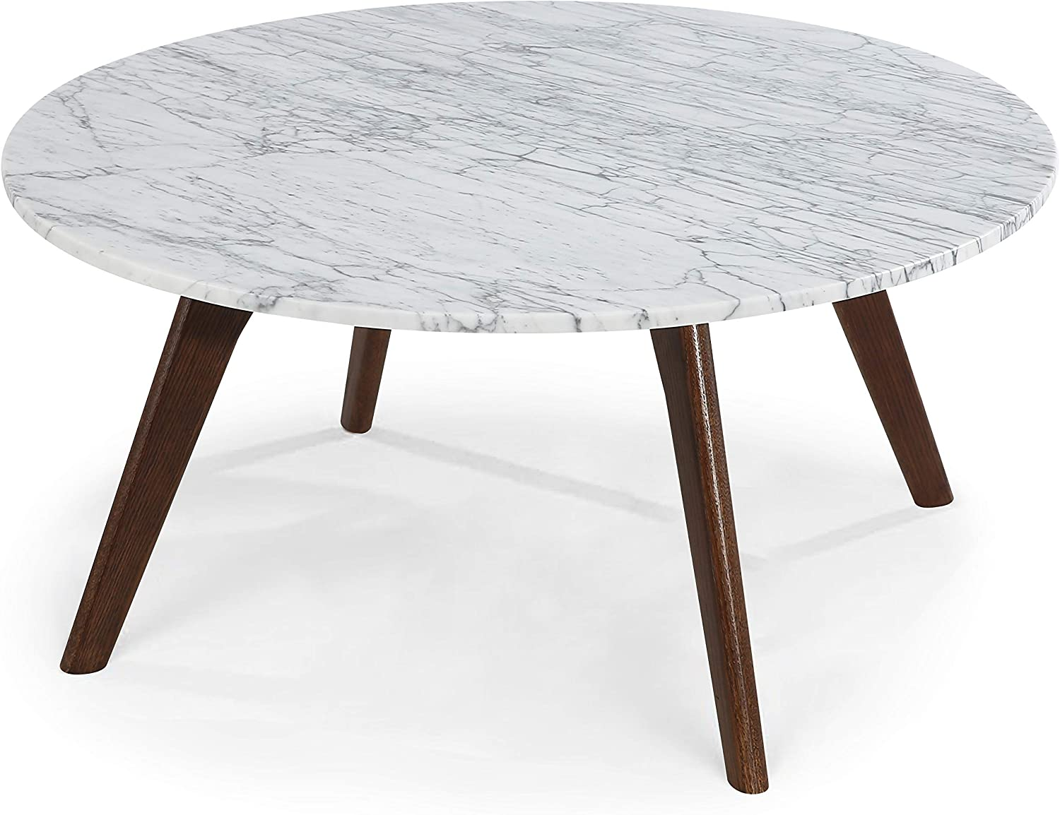 POLY & BARK Riley Marble Round Coffee Table