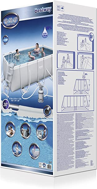 Bestway Power Steel 56457 - Piscina (Piscina con Anillo Hinchable ...