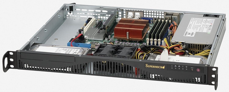 Supermicro cse-512 F-350b 350 W 80 Plus Mini 1uラックマウントサーバーシャーシ(ブラック)   B00HUF7W3G