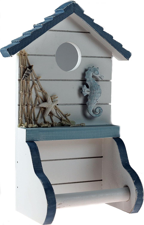 Nautical / Seaside Theme Beach Hut Toilet Roll Holder (TY8753) kandytoys