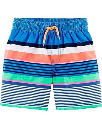 37050cd4ab Osh Kosh Toddler Boys' Swim Trunks (Multiple Varieties), Multi Stripe, ...