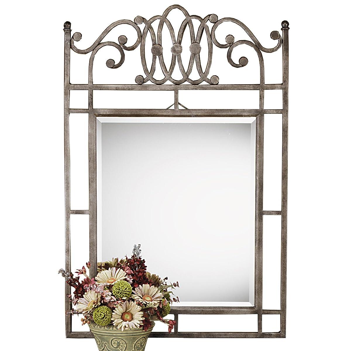Hillsdale Montello Console Mirror, Old Steel