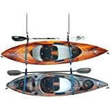Pelican Double Kayak Storage Strap System - for Indoor and Outdoor Kayak & SUP Paddle Board Hangers - Comes with Paddle Clips