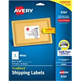 Avery Shipping Address Labels, Inkjet Printers, 150 Labels, 3-1/3x4 Labels, Permanent Adhesive, TrueBlock (8164), White
