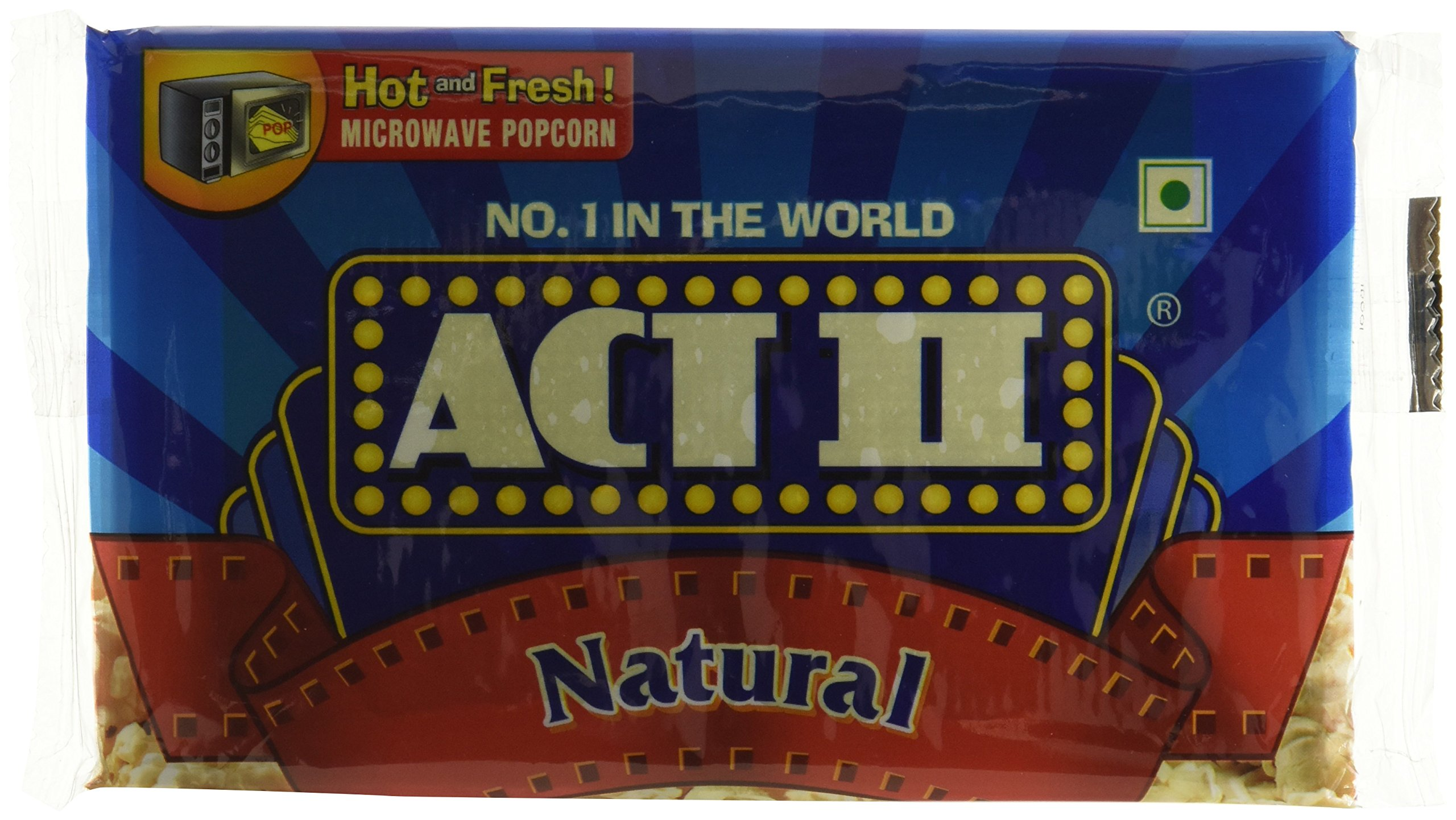 Pack Of 1 ACT II Microwave Popcorn Natural, 99g - India