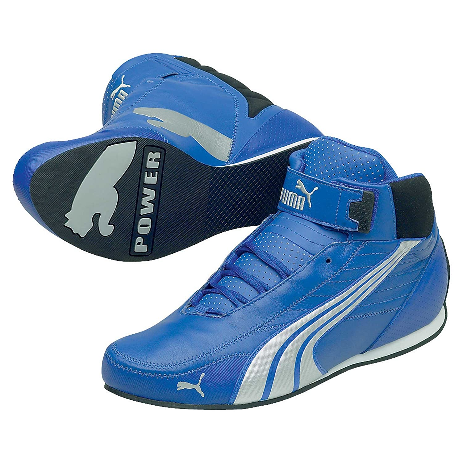 d0f6bed411e742 Puma Kart Cat Mid II Pro Go Karting Boots Blue (5 UK)  Amazon.co.uk ...