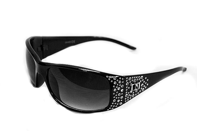 Polarizado gafas de sol de voz las mujeres diseñador de gafas de moda - Marco negro - lente humo: Amazon.es: Ropa y accesorios