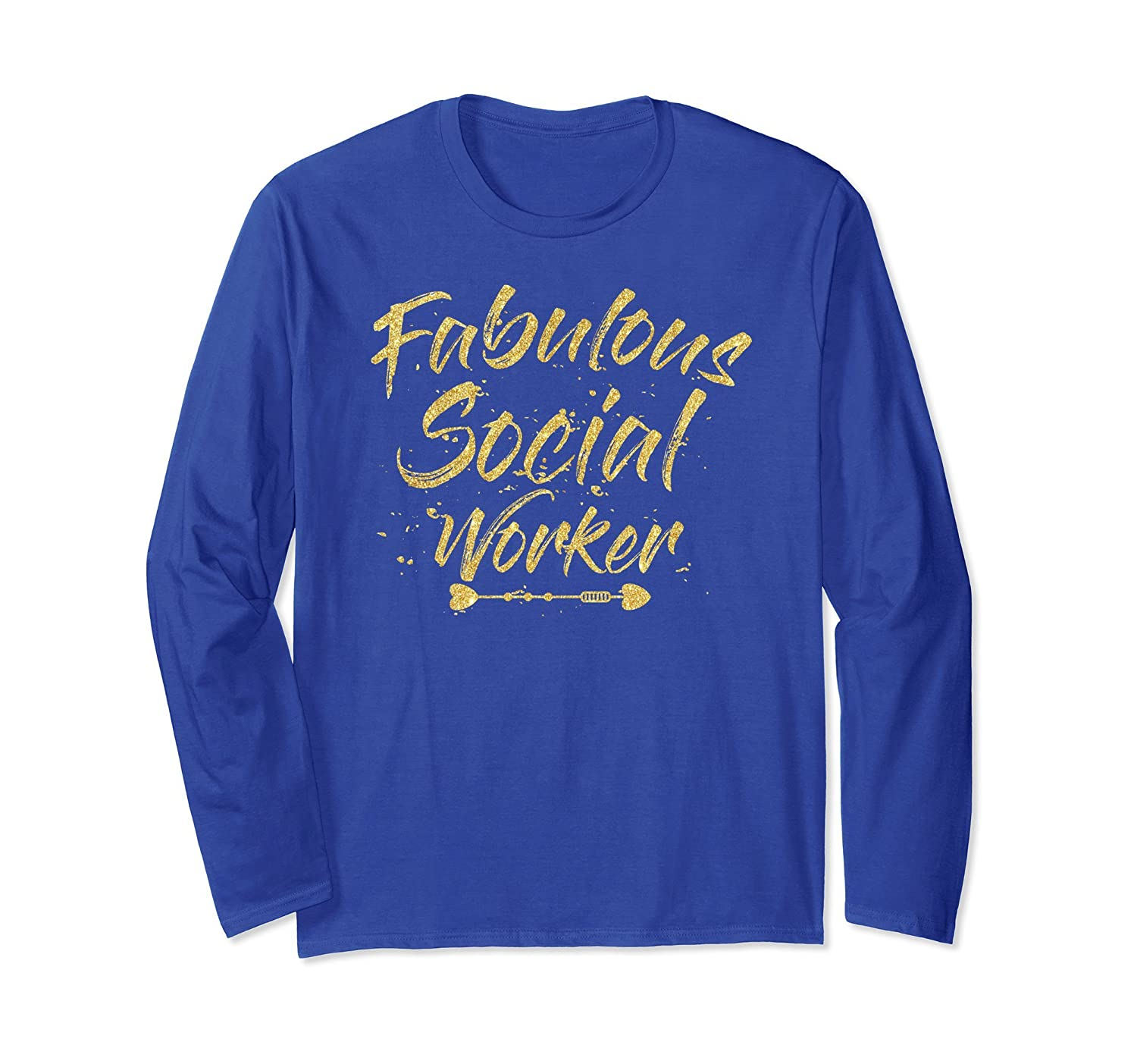 Cool Fabulous Social Worker Long Sleeve T-Shirt-alottee gift