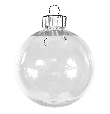 Clear Christmas Ornaments.Darice 2610 61 Christmas Decoration Pet Christmas Ornament Clear 67 Mm Pack Of 50