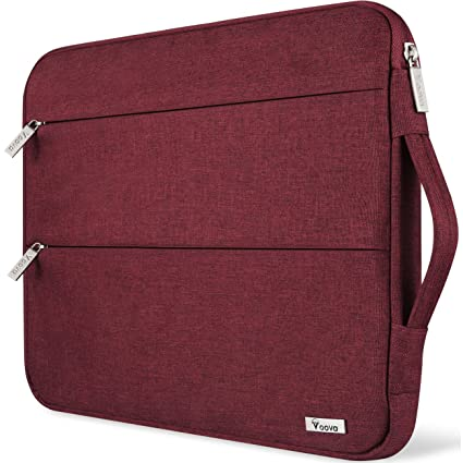 e97ea825002c Voova Compatible with 11 11.6 12 inch Laptop Sleeve MacBook air,  chromebook/Surface Pro 3 4 5 6/ Mac 12 with Handle Waterproof Protective,Red
