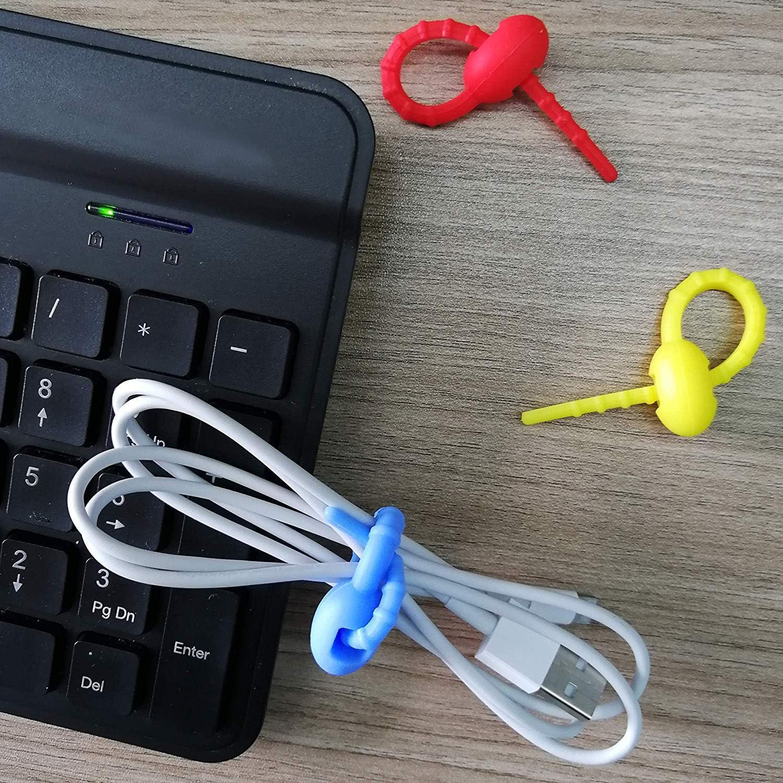 plantas y lazos para el hogar ajustables y multiusos reutilizables Doveno bridas reutilizables de silicona para cables auriculares bolsas