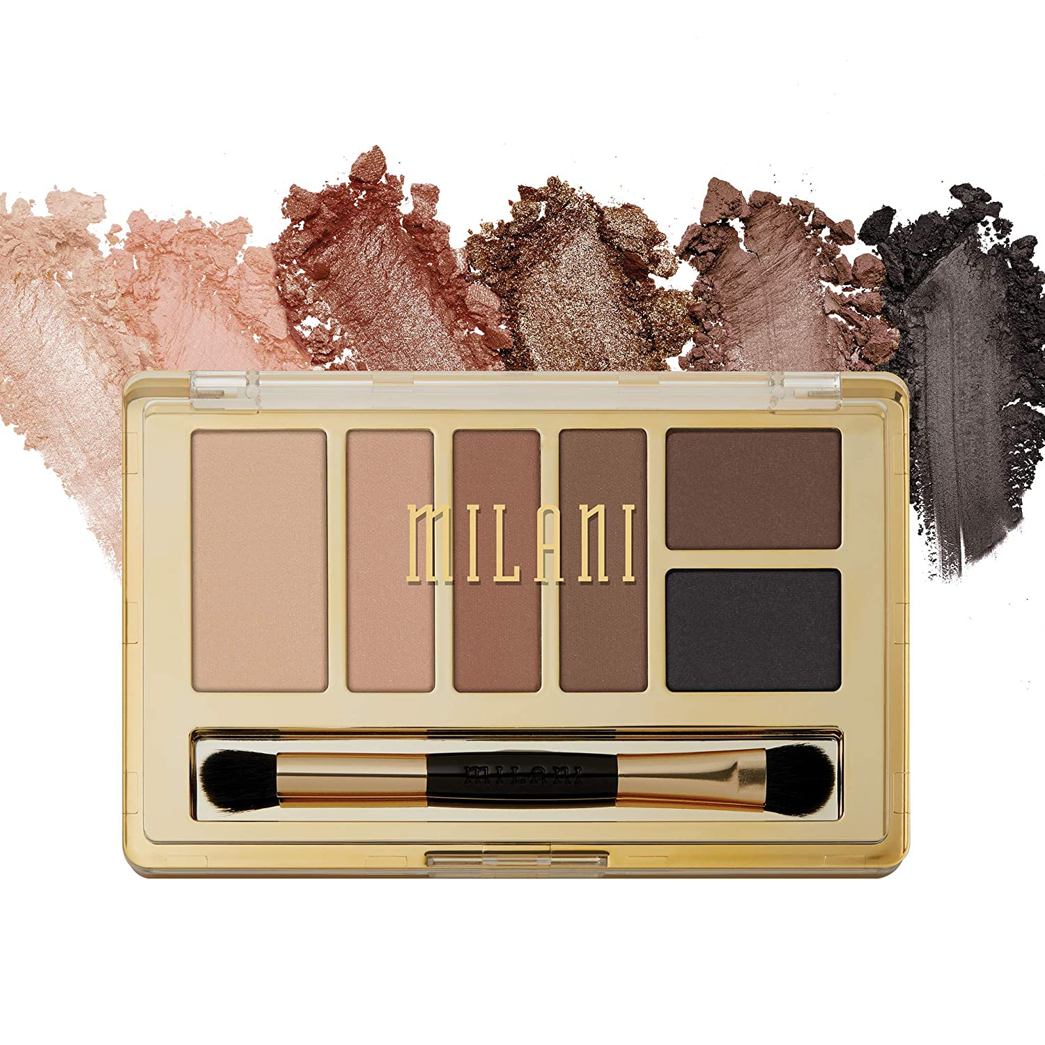 Milani Everyday Eyes Eyeshadow Palette - Basic Mattes (0.21 Ounce) 6 Cruelty-Free Matte or Metallic Eyeshadow Colors to Contour & Highlight
