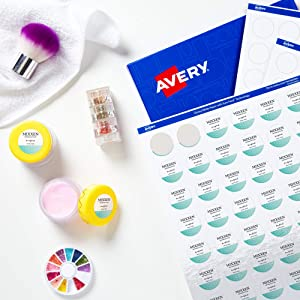 """AVERY Round Labels with Sure Feed, 1"""" Diameter, 240 Glossy White Labels (36485)"""