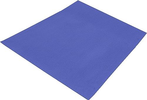 Luxorware 1 4 Thick PVC Vinyl Zig Zag Anti-Slip Floor Mat for Wet Area Swimming Pool, Shower Bathtub Sauna Indoor Outdoor 3ft Wide by 3ft X 39ft, Blue
