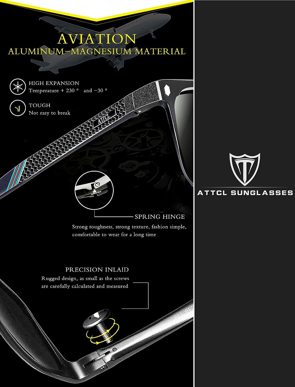 ATTCL Uomo Polarizzate Occhiali da sole Al-Mg Super leggero