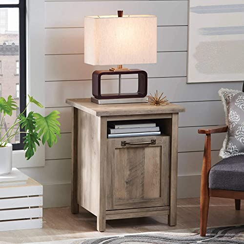 Better Homes and Gardens Modern Farmhouse Side Table Nightstands, Rustic Gray Finish