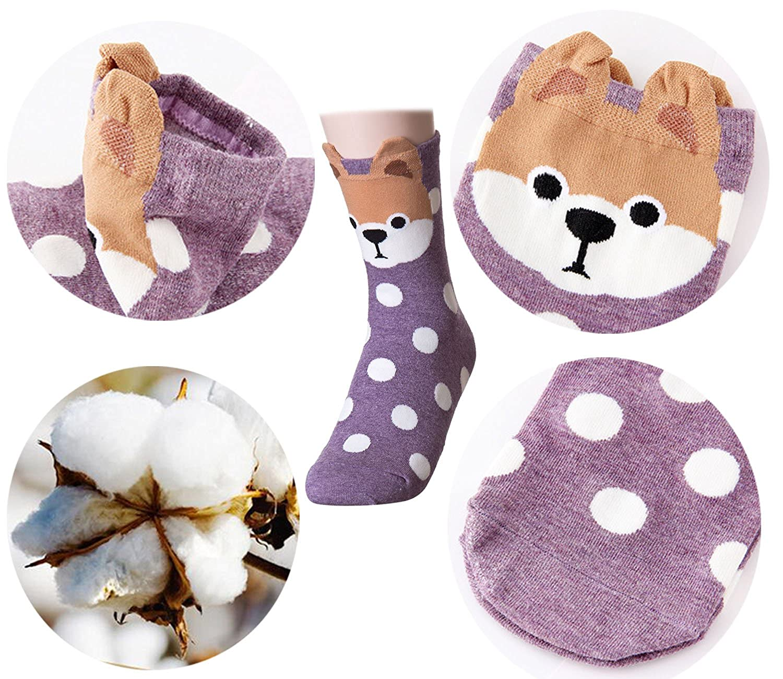 Women Girls Novelty Crew Socks,TMVOK Cute Animal Design Funny Casual Warm Socks