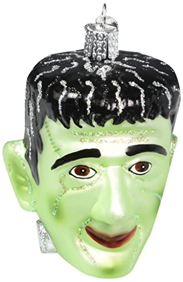 Amazon.com: Old World Christmas Frankenstein Glass Blown Ornament ...