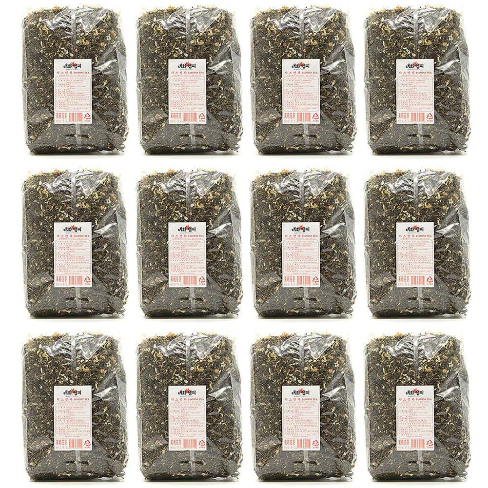 Daewha Jasmine Tea Bulk Loose Leaf, 1kg(2.2lb) (12 Pack)