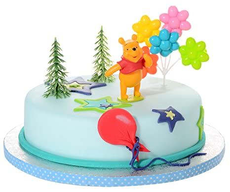 KIT DECORAZIONE TORTA WINNIE THE POOH 21909 ORSETTO CAKE DESIGN COMPLEANNO  BIMBI