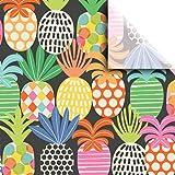 "Jillson & Roberts Printed Tissue 20"" x 30"", Pineapple Pop (240 Sheets)"