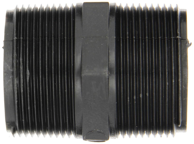 2-1//2 Length Short Nipple 1-1//2 NPT Male Schedule 80 Banjo NIP150-SH Polypropylene Pipe Fitting