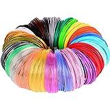 3D Pen/3D Printer Filament,1.75mm PLA Filament Pack of 24 Different Colors,High-Precision Diameter Filament, Each Color…