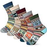 Womens Socks Winter Wool Socks Cozy Knit Warm Winter Socks for Women
