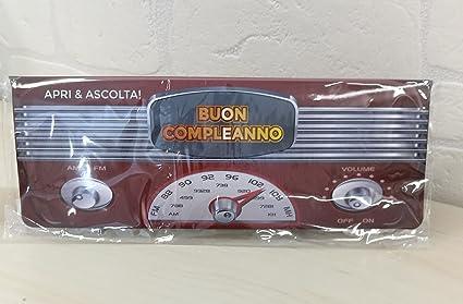 Carte Anniversaire Parlante Radio Vintage Bon Anniversaire Amazon Fr Cuisine Maison