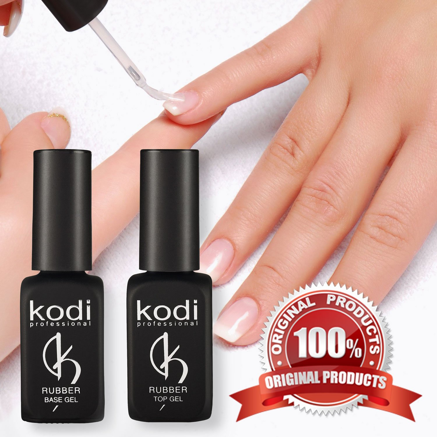 Amazon.com: Professional Rubber Base Gel By Kodi | Soak Off, Polish ...