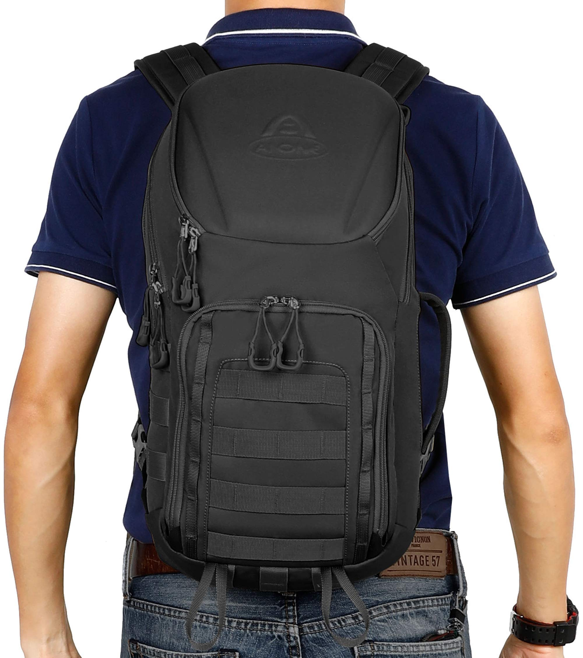 Aione Tactical Backpack Military Army Backpack Daypack 25L/30L/32L/54L Assault Pack Bug Out Bag with Hard Shell Top Pocket