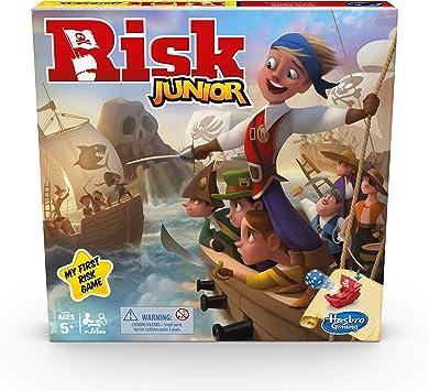 Hasbro Gaming Risk Junior Juego de Estrategia, Juego de Mesa de Estrategia, una introducción de niño al clásico Juego de Riesgo para Edades de 5 en adelante; Juego temático Pirata: Amazon.es: Juguetes