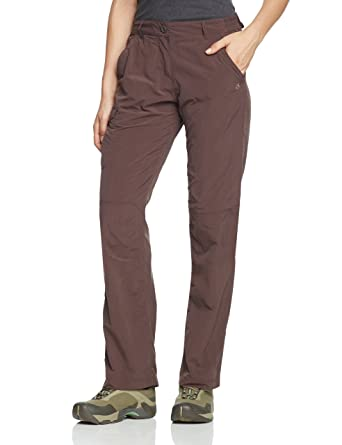 c3550d07efc2 Craghoppers NosiLife Women's Functional Trousers, women's, Marron - Cacao,  14 Short