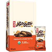 CLIF Nut Butter Bar - Organic Snack Bars - Chocolate Peanut Butter - Organic - Plant Protein - Non-GMO (1.76 Ounce…