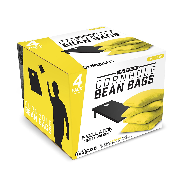 Yellow GoSports Premium Bean Bag 4 Set