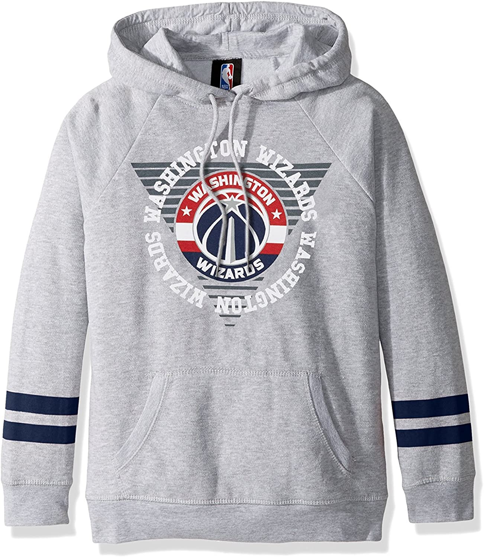 Ultra Game NBA Womens Soft Fleece Pullover Hoodie Sweatshirt with Varsity Stripe